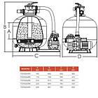 Emaux Фильтрационная установка Emaux FSF350 (4 м3/ч, D355), фото 3