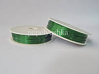 Проволока 0,3 мм зелена 50м