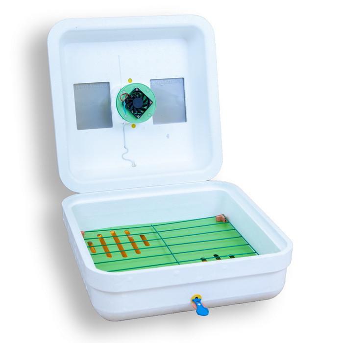 Инкубатор Рябушка / Інкубатор Smart ИБ-70 (70 ЯИЦ, Цифровой , Механический, Вентилятор, Керамика)
