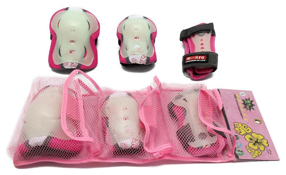 Комплект защиты Maraton Micro для роликов, самоката, скейта Rose (S)