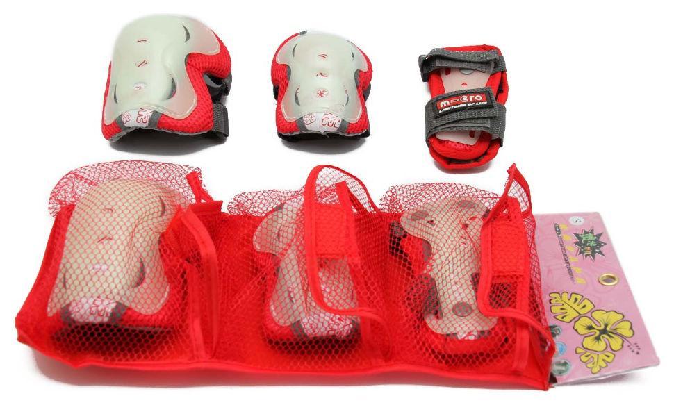 Комплект защиты Maraton Micro для роликов, самоката, скейта Red (S)