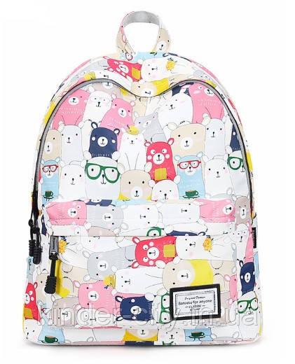 Рюкзак жіночий Ведмедики кольорові