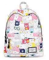 Рюкзак жіночий Ведмедики кольорові, фото 1