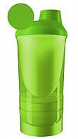 Шейкер спортивний ShakerStore Wave + з 2-ма контейнерами Зелений