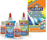 Клей Элмерс для изготовления слаймов (голубой, зеленый) Elmer's Color Slime Kit Blue/Green