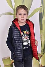 Детская двусторонняя демисезонная жилетка
