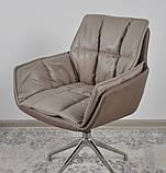 Кресло поворотное PALMA мокко/молочный шоколад кожзам (бесплатная доставка), фото 10