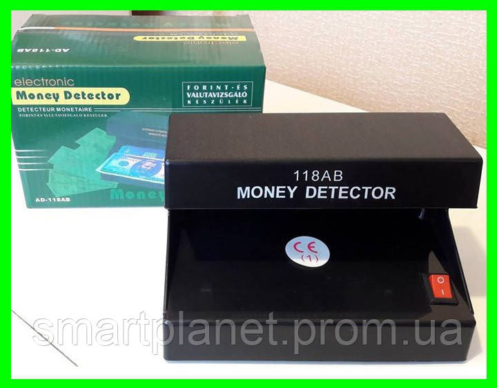 УФ Детектор Валют Банкнот - 118 (на батарейках) Видео Обзор