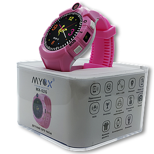 Детские смарт-часы GPS MYOX МХ-02G Pink