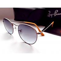 Брендовые очки Ray Ban 3447 Round Metal 029/71 -минеральное стекло