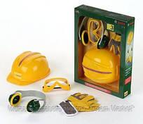 Детский Игровой Безопасный Набор инструментов каска, рукавицы, очки, наушники из пластика Klein Кляин