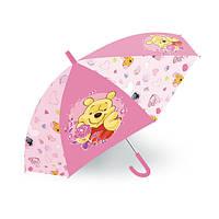 Детский Яркий Механический Зонтик для девочек с удобной ручкой с Винни Пухом розовый, 45 см Starpak Старпак