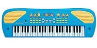 Детский Игровой Развивающий Музыкальный Инструмент Электросинтезатор Пианино Миньоны голубой 49клавиш LEXIBOOK
