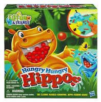 Детская Развивающая Настольная Игра Голодные бегемотики с шариками Hungry Hungry Hippos Hasbro 25х11х25 см