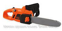 Детская Игровая Безопасная Бензопила оранжевая с двигающейся цепью, звуком регулируемая Black and Decker -