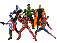 """Набор Фигурок из к/ф """"Мстители: Война бесконечности"""", Avengers, Infinity War, 6в1, 17СМ"""