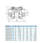 EFFAST Зворотний клапан пружинний EFFAST d63 мм (CDRCVD0630), фото 2