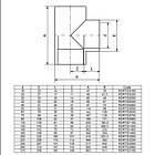 EFFAST Тройник клеевой 90° EFFAST d63 мм (RDRTID0630), фото 2