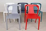 Стілець пластиковий IVA червоний (безкоштовна доставка), фото 2
