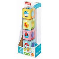 Детский Игровой Развивающий Набор Чудо-кубики разноцветные с шариком и меняющимися картинками Fisher-Price