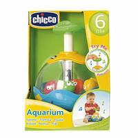 Детская Развивающая Игрушка Аквариум Юла с рыбками автоматическая со звуковыми и световыми эффектами Chicco
