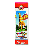 """Пластилин """"Жираф"""", картонная упаковка 200 грамм , 10 цветов 131504 Koh-i-Noor"""