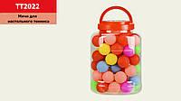 Мячи для настольного тенниса MIX 6 цветов, 60 мячей в капсуле /24/