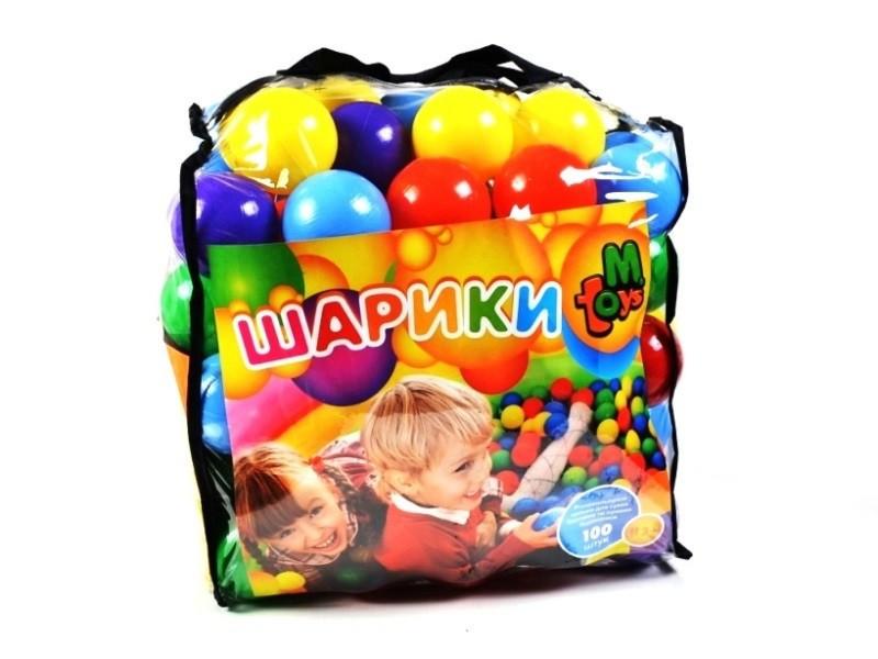 Шарики большие 80мм мягкие 100шт в сумке /3/
