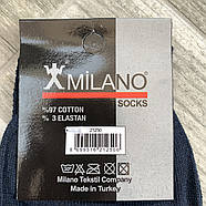 Носки мужские демисезонные х/б Milano LYCRA, Турция, 40-45 размер, тёмно-синие, 1993, фото 3