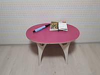 Овальный столик детские из фанеры (дерево), конструкт.