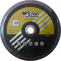 Диск отрезной абразивный по металлу WERK 300х3х32 (WE201114)