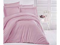 Однотонное постельное белье ранфорс Deluxe Pembe розовое