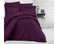 Однотонное постельное белье ранфорс Deluxe Mor фиолетовое
