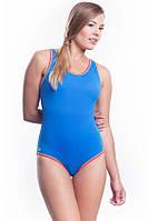 Купальник сдельный спортивный SHEPA 001, голубой S
