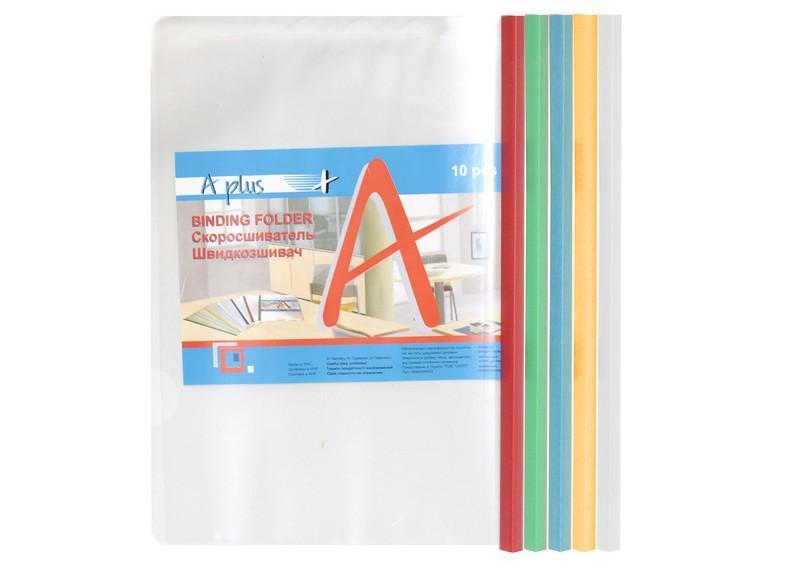 Папка з планкою-притиском А4 16С (1,18 см) A-Plus, 5 кольорів