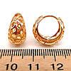 Серьги Xuping из медицинского золота, позолота 18К, 23879       (1), фото 2