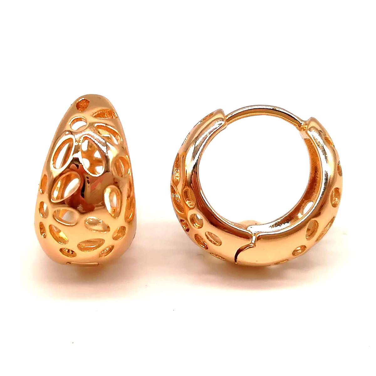 Серьги Xuping из медицинского золота, позолота 18К, 23879       (1)