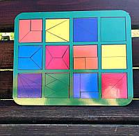 Сложи квадрат, методика Никитиных, 12 квадратов, ур. 1, 300*240 мм, 064401, фото 1