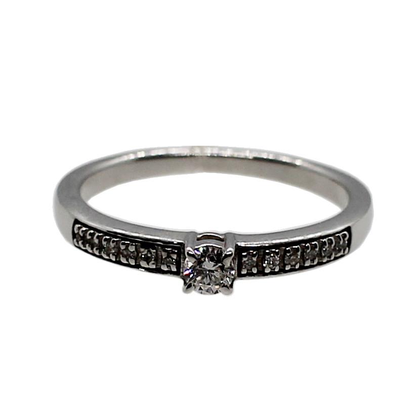 Кольцо (золото 585, бриллианты, р.16.5)
