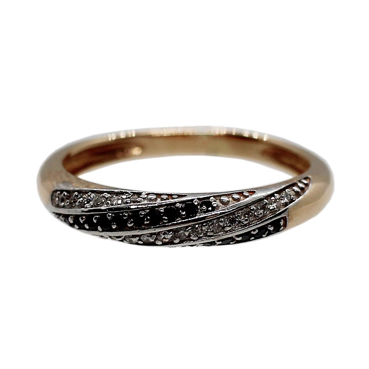 Кольцо (золото 585, бриллианты, р.17)