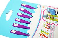 Шнурки обувные силиконовые (Фиолетовые/6шт/12см)