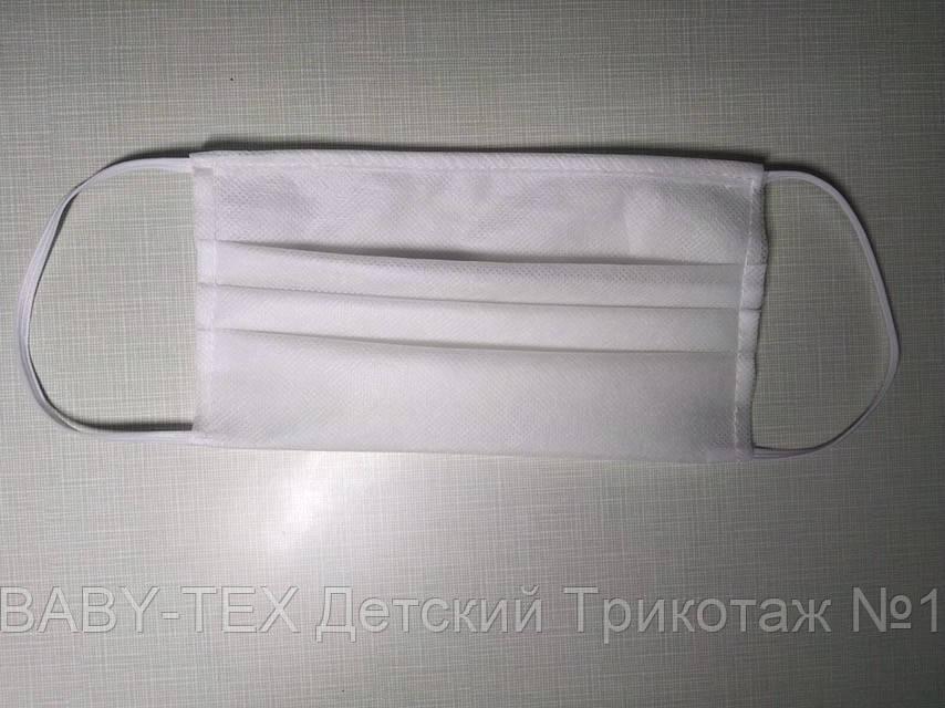 Маска для обличчя захисна тришарова на резинках з медичного матеріалу 59 штук пачка