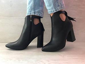 Ботинки женские черные 37,39,40 арт.8536