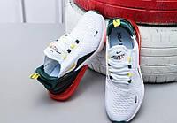 Мужские кроссовки Nike Air Max 270 Seattle City Pack Белые White-Green 43 размер