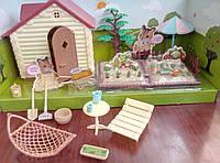 Дачный домик с аксессуарами для лол флоксовых животных