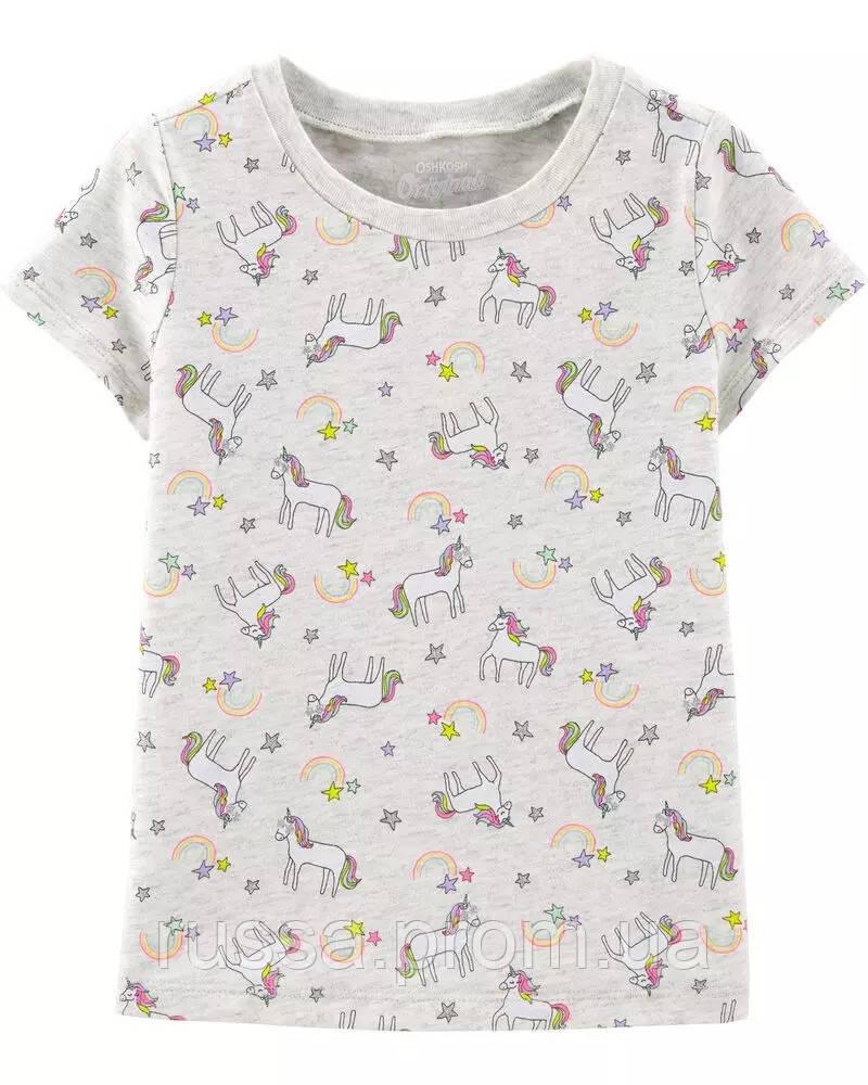 Симпатичная летняя футболка Единороги ОшКош для девочки