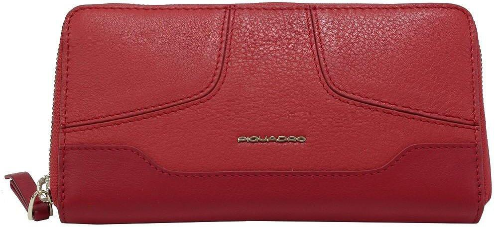 Кожаный кошелек женский Piquadro Hosaka красный