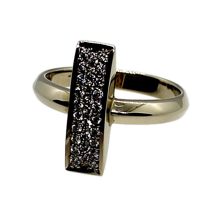 Кольцо (золото 585, бриллианты, р.17.5)