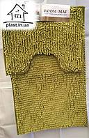 Набор ковриков для ванной комнаты Лапша 80*50 см (оливковый)