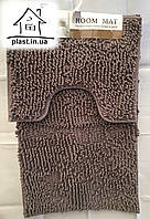 Набор ковриков для ванной комнаты Лапша 80*50 см (Серый)